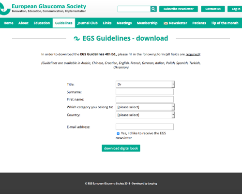 European GlaucomaSociety(EGS)