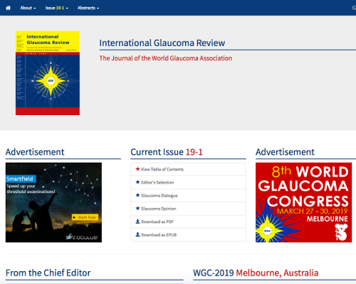 International Glaucoma ReviewThe Journal of the World Glaucoma Association
